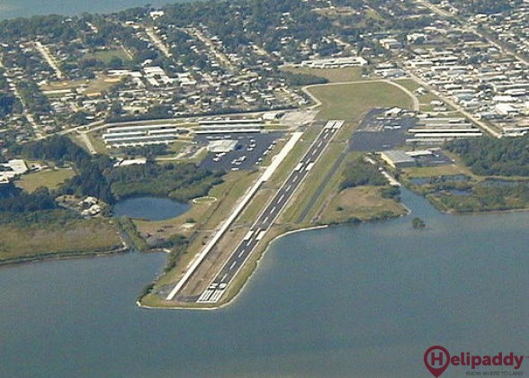 Merritt Island Airport by helicopter