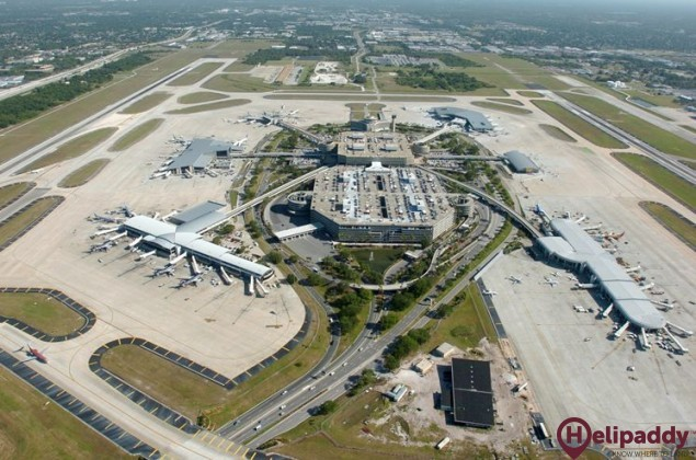 Tampa International Airport by helicopter