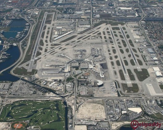 Miami International Airport by helicopter