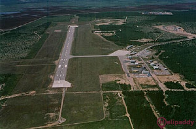 Baie-Comeau Airport by helicopter
