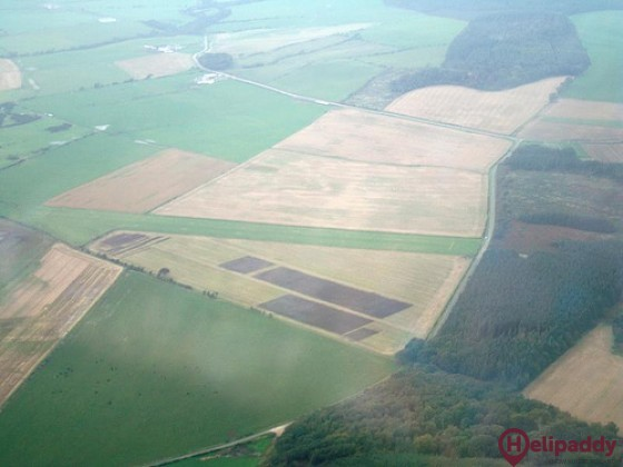 Bute Airfield by helicopter