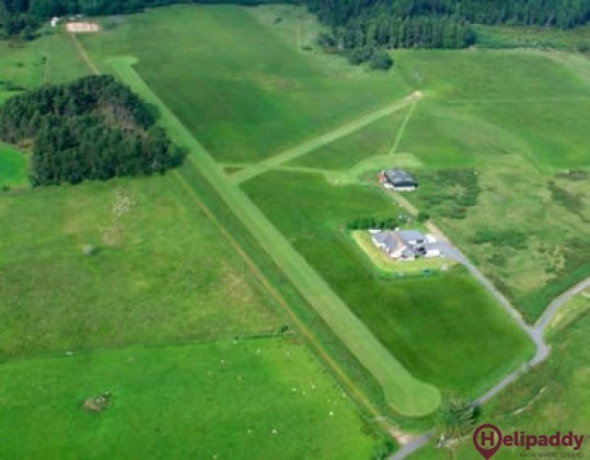 Culbokie Airfield by helicopter
