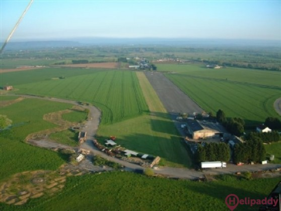Westonzoyland Airfield by helicopter