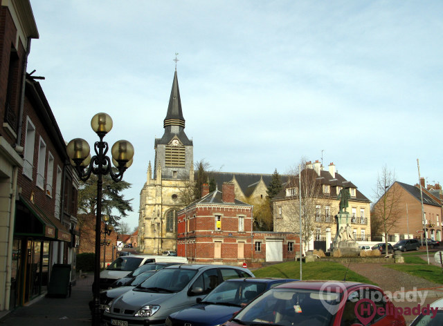Montdidier by helicopter