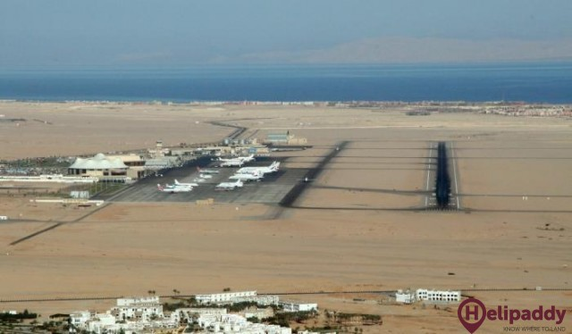 Sharm El-Sheikh International Airport  by helicopter