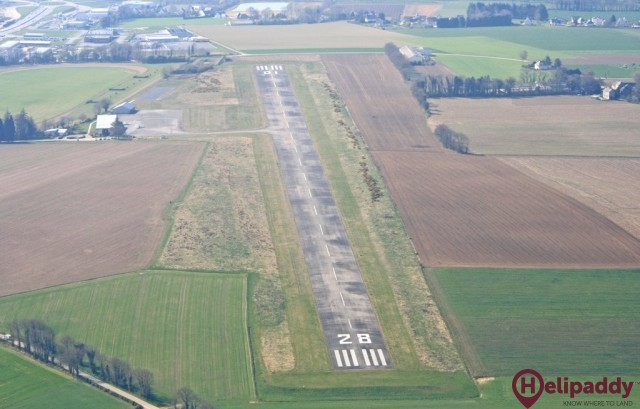 Pontivy Airfield by helicopter
