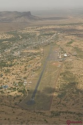Lokichogio Airport by helicopter