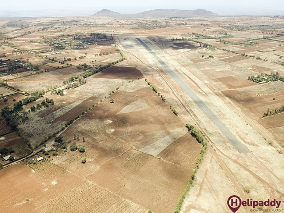 Marsabit Airport by helicopter