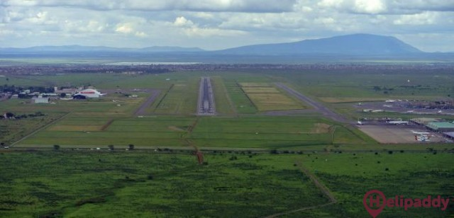 Jomo Kenyatta International Airport by helicopter