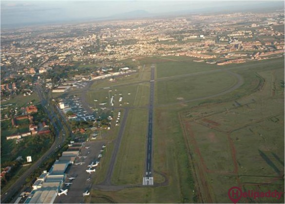 Wilson Airport by helicopter