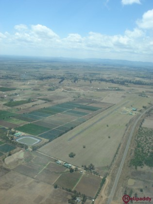 Nanyuki Airport by helicopter