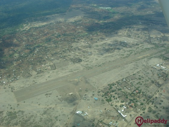 Nyeri Airport by helicopter