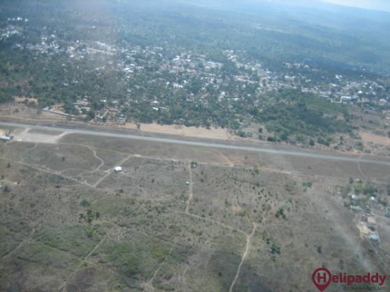 Ukunda Airport by helicopter