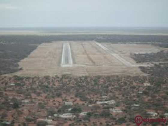 Wajir Airport by helicopter