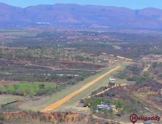 Barberton Airport by helicopter