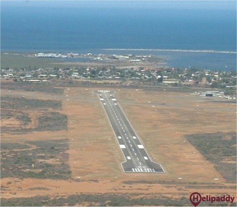 Carnarvon Airport  by helicopter