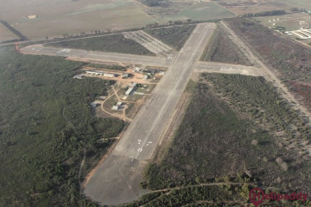 Fisantekraal Airfield by helicopter