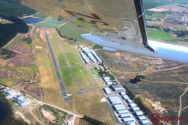 Stellenbosch Airport by helicopter
