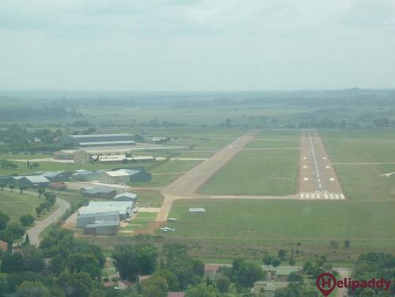 Potchefstroom Airport by helicopter