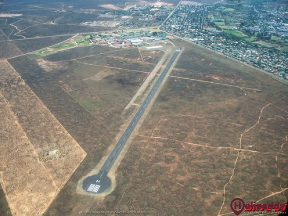 Oudtshoorn Airport by helicopter