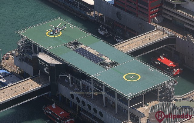 Shun Tak Heliport by helicopter