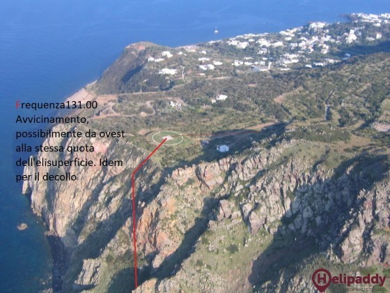 Air Panarea Heliport by helicopter