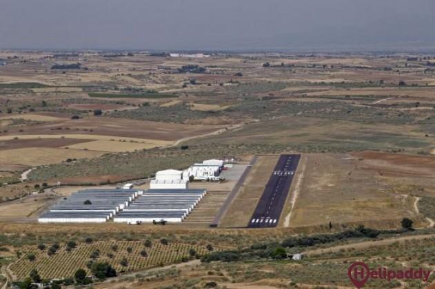 Casarrubios Aerodrome by helicopter