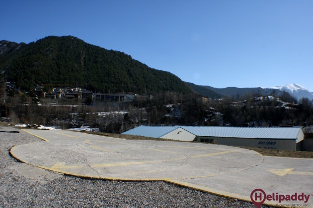 La Massana Heliport by helicopter