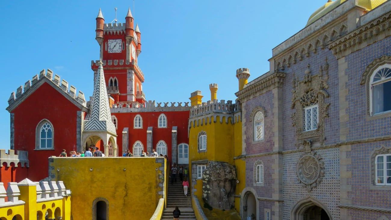 Palacio da Pena desde Lisboa