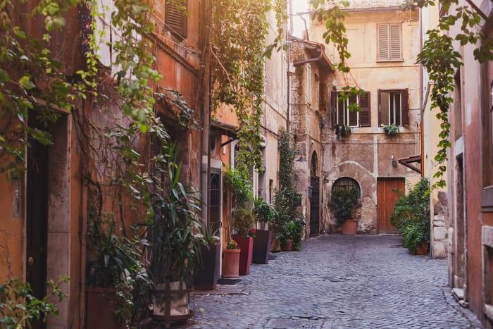 Une des rues du quartier de Trastevere