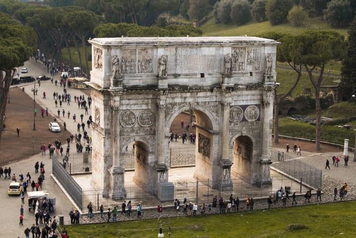 Arco do Triunfo no Fórum Romano