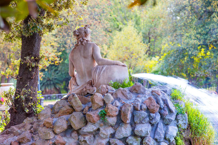 Fuente del Parque de Villa Borghese