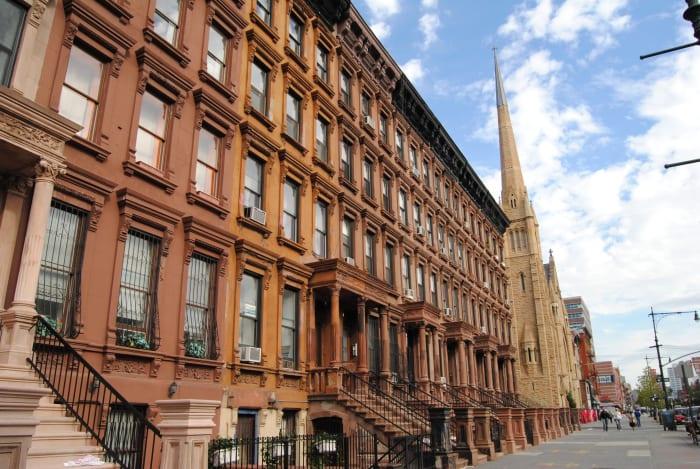 Edificio en el barrio de Harlem