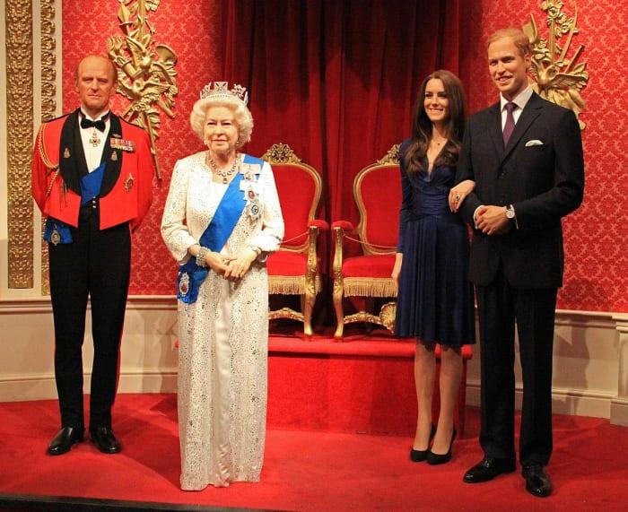 La Familia Real Británica de cera