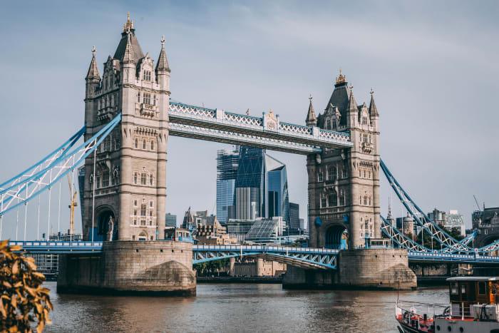 Vues du Tower Bridge depuis la rivière