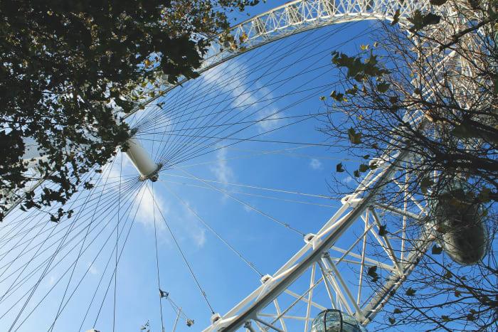 Vista del London Eye desde la base de la noria