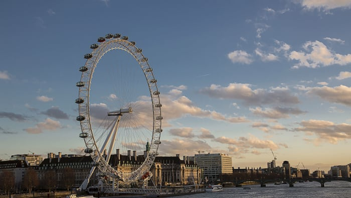 The London Eye from across the River Thames