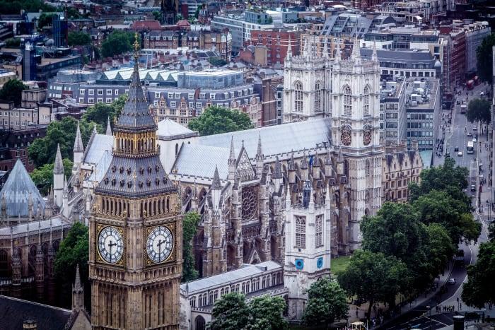 Vistas del Big Ben desde el London Eye
