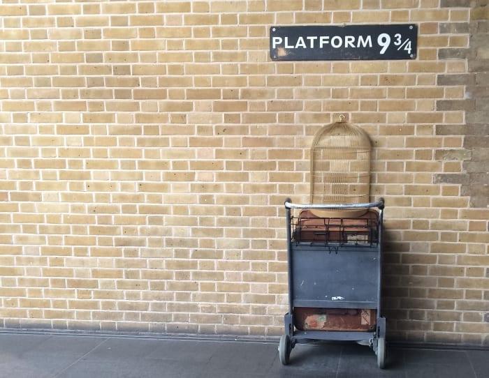 L'espace dédié à Harry Potter à la gare de Saint-Pancras