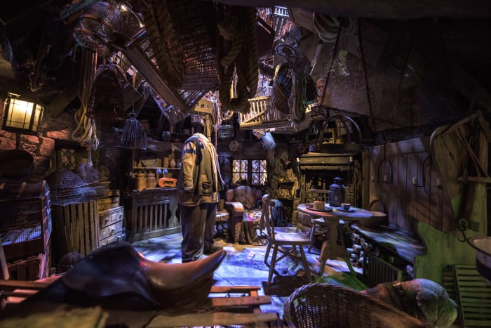 L'ensemble de la cabane de Hagrid chez Warner Bros