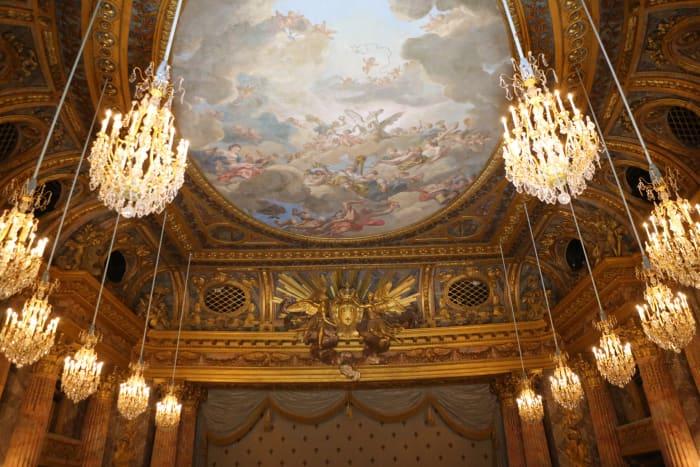 Frescos del Interior del Palacio de Versalles