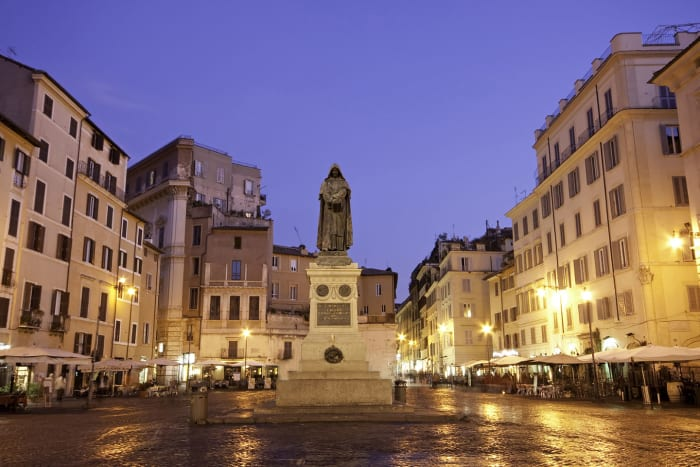 Place du Campo dei Fiori à la nuit