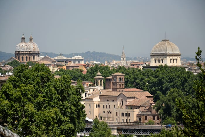 Vista aérea de Roma