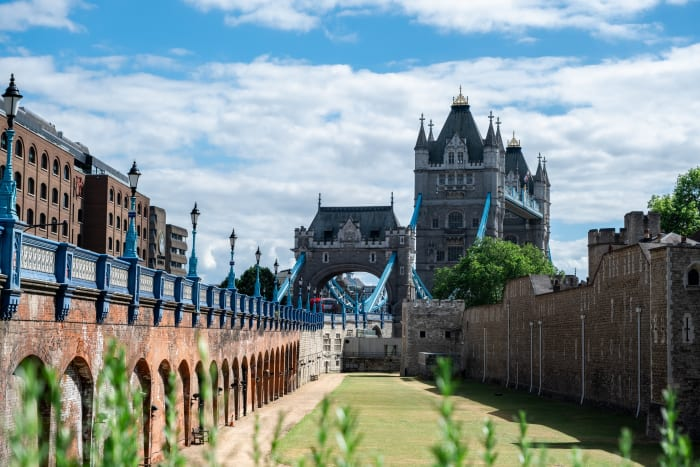 Les murs de la Tour de Londres