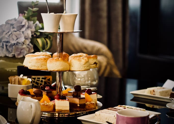 Clássico chá da tarde britânico