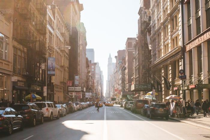 Coucher de soleil sur Broadway