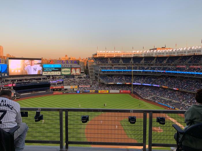 Estadio de los Yankees un día de partido