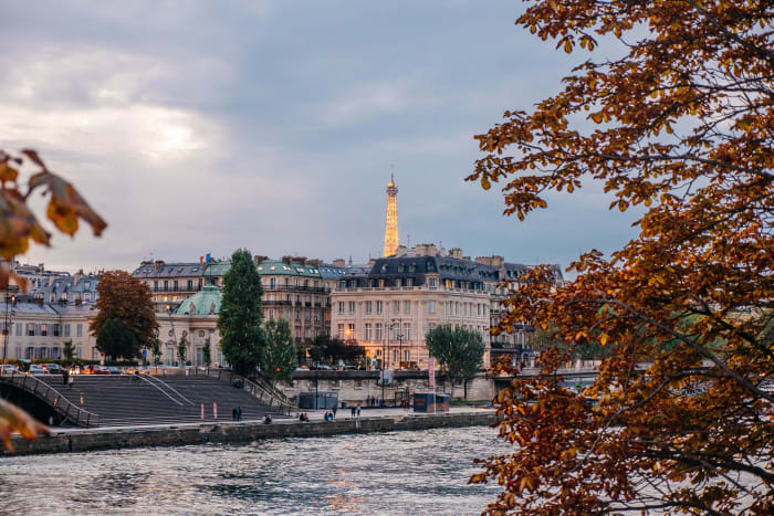 Vista desde o rio Sena