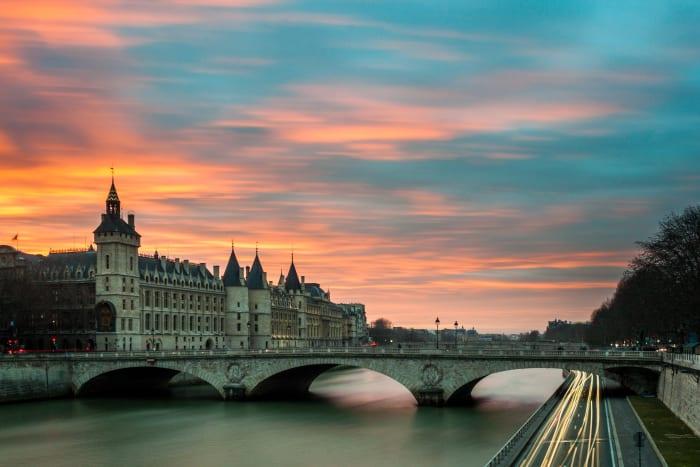 Atardecer desde el rio Loire