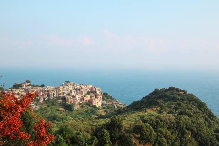 Vue aérienne de la côte italienne